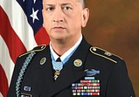 U.S. Army Staff Sergeant David G. Bellavia poses for his official portrait in the Army portrait studio at the Pentagon in Arlington, Va., June 26, 2019.  Staff Sergeant David G. Bellavia received the Medal of Honor from President Donald J. Trump at the White House on June 25, 2019 for conspicuous gallantry and intrepidity at the risk of his life above and beyond the call of duty.   Staff Sergeant David G. Bellavia distinguished himself by acts of gallantry and intrepidity above and beyond the call of duty on November 10, 2004, while serving as squad leader in support of Operation Phantom Fury in Fallujah, Iraq. (U.S. Army photo by Monica King)